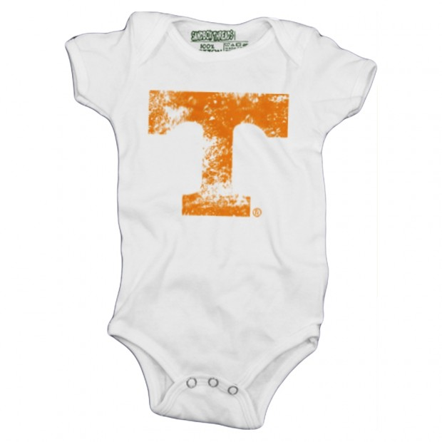 Distressed Orange Power T Baby Onesie | Multiple Colors