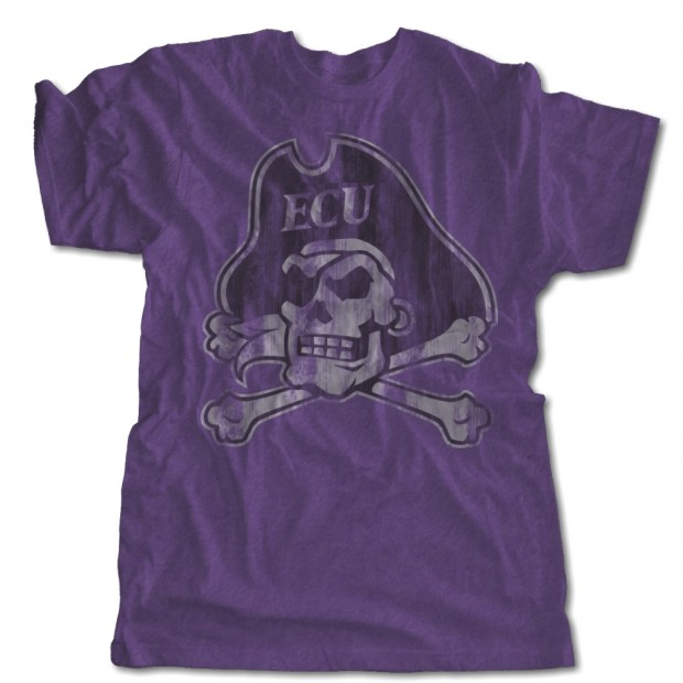 Distressed ECU Pirates Purple Triblend