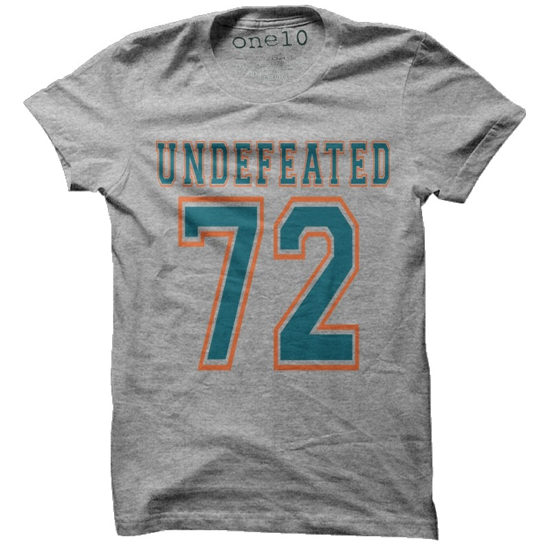Cheap 1972 Miami Dolphins Undefeated T Shirt | Vintage Miami Dolphins Tee  free shipping