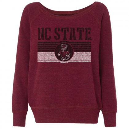 Distressed NC State Stripes