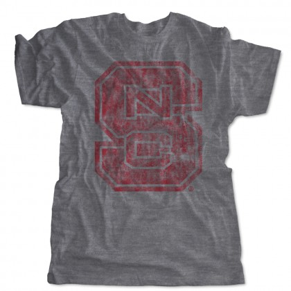 Distressed NC State Block S