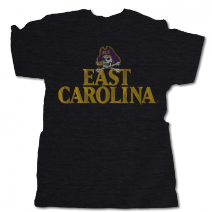 Distressed East Carolina Pirates | Triblend Black