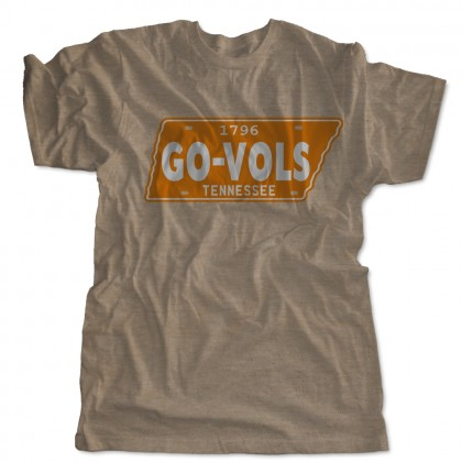 Vintage Tennessee License Plate Go Vols T-Shirt