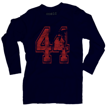 Hammerin Hank Aaron #44 Long-Sleeve T-Shirt