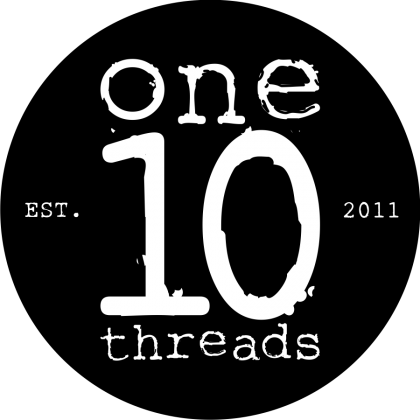 One 10 Threads Round Sticker