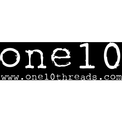 One 10 Threads Rectangle Sticker