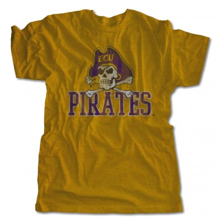 Pirates Tee | ECU Gold