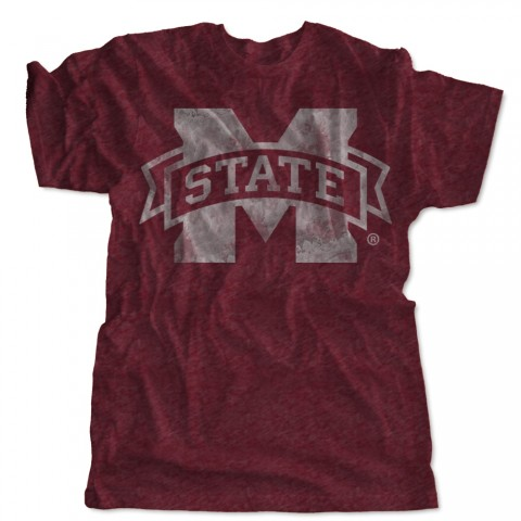 Mississippi State Block M Distressed