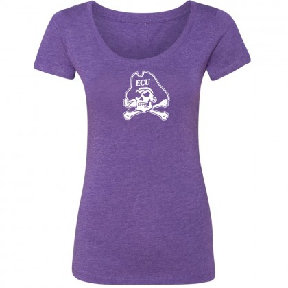 Ladies Scoop Neck East Carolina Pirates | Triblend Purple