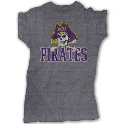 Pirates Tee | ECU Grey