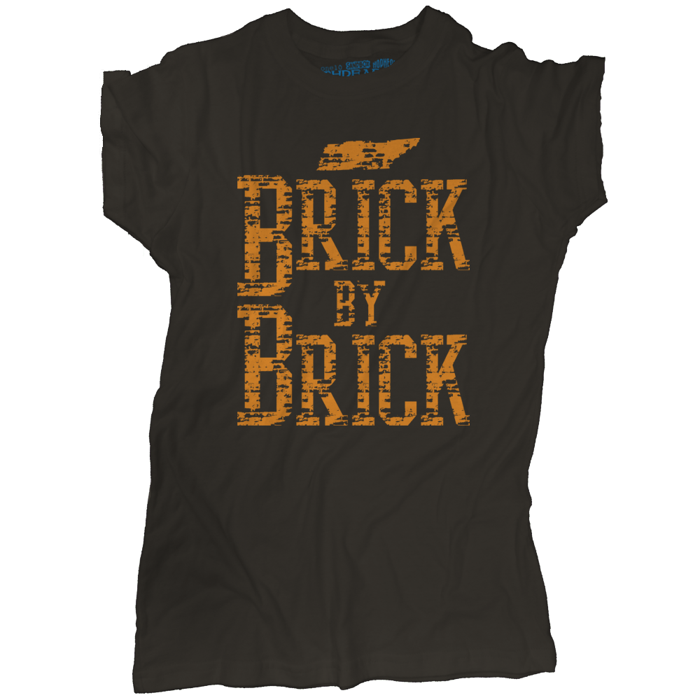 Tennessee Brick by Brick T-Shirt | Retro Volunteers Tee | One 10 Threads