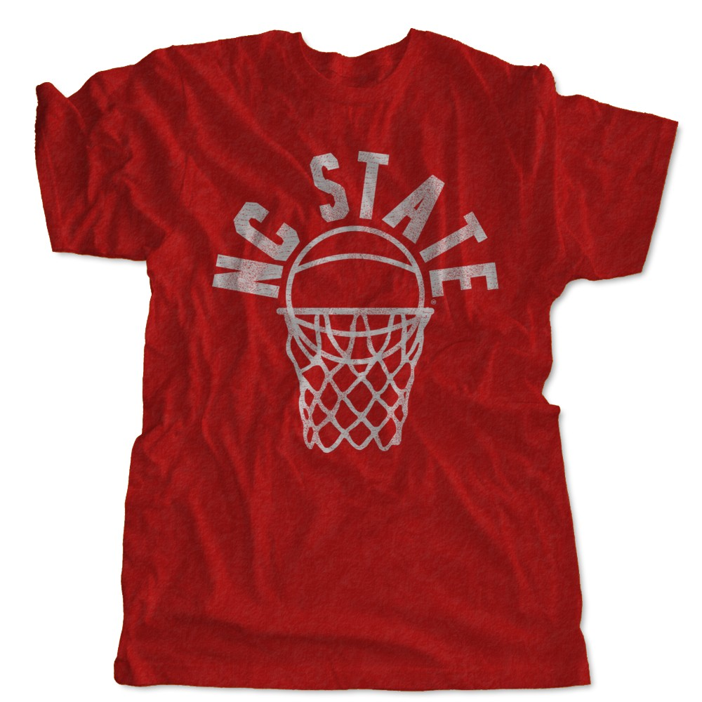 Nc state hoops short sleeve t shirt vintage nc state for Nc state basketball shirt